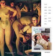 GUINEA BISSAU 2019 - Nudes, Serebriakova S/S. Official Issue - Nus