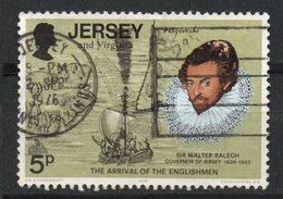 Ref: 1342. Jersey. 1976. Sir Walter Raleig Y Viejo Mapa De Virginia - Jersey