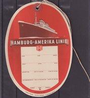 ALLEMAGNE : HAPAG . ETIQUETTE DE VALISE DE LA LIGNE HAMBOURG AMERIQUE . - Boats