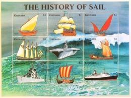 Grenada 1998**Mi.3666-74 The History Of Sail , MNH [4;21] - Schiffe