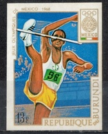 Burundi 1968 - Giochi Olimpici Mexico City Olympic Games Salto In Alto High Jump MNH ** - Salto