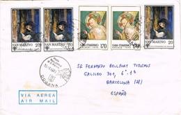 32278. Carta Aerea DOGANA (San Marino) 1980 A Barcelona - San Marino