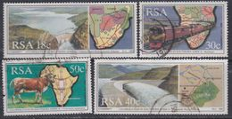 Afrique Du Sud N° 706 / 09 O  : Coopération Inter-états En Afrique Du Sud.  Les 4 Valeurs Oblitérées Sinon TB - Afrique Du Sud (1961-...)
