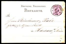 ALLEMAGNE. Carte Pré-timbrée Ayant Circulé En 1887. De Düsseldorf à Destination D'Hanau. - Germania