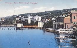 CARTOLINA - POSTCARD - SLOVENIA - PORTOROSE - PLACE - HOTEL E BAGNI DI SPIAGGIA -  VIAGGIATA PER BUDAPEST - Slovenia