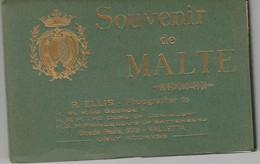 Malte   Rare ! Carnet De 12 Vue Format Carte Postale Dont 3 Panoramiques Photographe:REllis - Malte