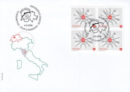 Premier Jour Znr. 1287, Italia, Italy, Messer, Couteau, Auteur Laura MANGIAVACCHI. 04.09.08, 2008. - Svizzera