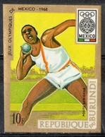 Burundi 1968 - Giochi Olimpici Mexico City Olympic Games Lancio Del Peso Shot Put MNH ** - Atletismo