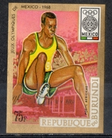 Burundi 1968 - Giochi Olimpici Mexico City Olympic Games Salto In Lungo Broad Jump MNH ** - Jumping