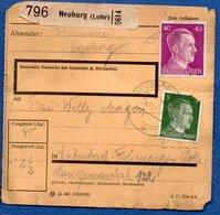 Colis Postal /  Départ Neuburg / Déchirures - Allemagne