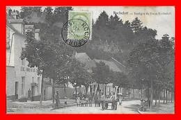 CPA ROCHEFORT (Belgique)  Vestiges Du Vieux Rochefort, Animé, école, Charette à Bras...A018 - Rochefort