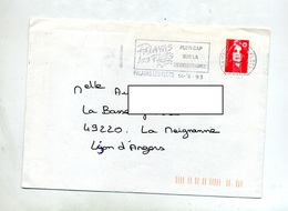 Lettre Flamme Palavas Porte Mediterranee - Marcophilie (Lettres)