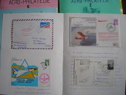 Collection En 8 Cahiers De 281 Documents D'aéro-philatélie De 1976/89 - 1er Vols, Doc. Exceptionnels + Divers..14 Photos - Timbres