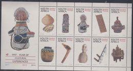 Afrique Du Sud N° 937 / 46 XX  : Artisanat.  Les 10 Valeurs Se Tenant En Une Petite Feuille, Sans Charnière, TB - Afrique Du Sud (1961-...)