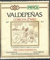 Etiquette De Vin D' Espagne  * Valdepenas Cosecha 2°ano * - Etiquettes