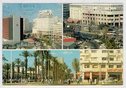 MAROC INFINI-CASABLANCA    PANORAMA  DE LA PLACE DES NATIONS UNIES                (VIAGGIATA) - Casablanca