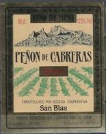 Etiquette De Vin D' Espagne  * Penon De Cabreras * - Etiquettes