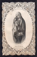 """Canivet, Holly Card, Image Pieuse Dentelle """" Reine Des Martyrs"""", Bouasse-Lebel 7 X 11 Cm, - Religion & Esotericism"""