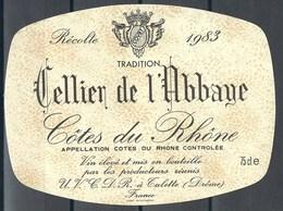Etiquette De Vin De France * Cellier De L' Abbaye * - Etiquettes