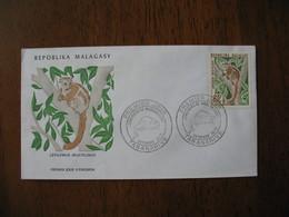 FDC Madagascar 1973 Tananarive Lémuriens - Madagascar (1960-...)