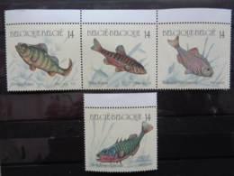BELGIQUE 1990 N° 2383 à 2386  ** - POISSONS - Unused Stamps