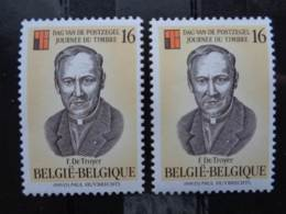 BELGIQUE 1995 N° 2596 X 2 ** - JOURNEE DU TIMBRE - Unused Stamps