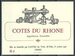 Etiquette De Vin De France * Côte Du Rhône * - Etiquettes