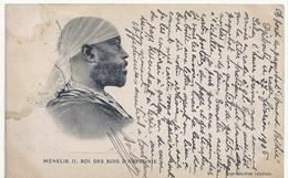Rare Carte Ménélik II Roi Des Rois D'Abyssinie écrite à Bord Du Paquebot Armand Béhic Posté à Djibouti 1906 - Eritrea
