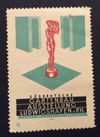 GARTENBAU AUSSTELLUNG LUDWIGSHAFEN A RH  1925    ETICHETTA PUBBLICITARIA ERINNOFILO AGRICOLTURA ORTICOLTURA - Cinderellas