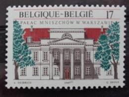 BELGIQUE 1998 N° 2782 + TIMBRE POLOGNE ** - PALAIS MINISZECH EMISSION AVEC POLOGNE - Unused Stamps