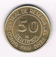 50 CENTIMOS 1988 PERU /3255/ - Pérou