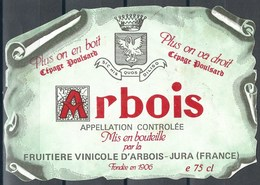 Etiquette De Vin De France * Jura - Arbois * - Etiquettes