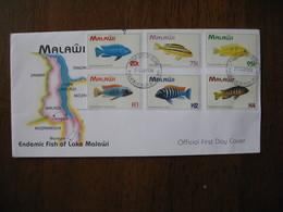 FDC Malawi 1964 Série Poissons - Malawi (1964-...)