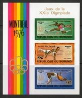 Burundi 1976 - Giochi Olimpici Olympic Games Montreal MNH ** - Estate 1976: Montreal