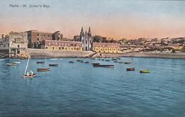 CARTOLINA - POSTCARD - MALTA - ST. JULIAN'S BAY - Malta