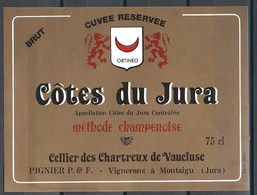 Etiquette De Vin De France * Côte Du Jura - Méthode Champenoise * - Etiquettes