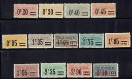 FR - Série Surchargée Complète N° 34 à 46 - Tous Neufs Sans Charnière XX, Sauf N° 35 Et 37 Trace De Charnière Discrète - - Mint/Hinged