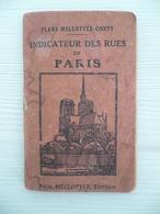 Plans MELLOTTEE CONTY - Indicateur Des Rues De Paris Avec Stations - Editeur PAUL MELLOTTEE - Sans Plan Ni Date - Dépliants Touristiques