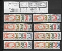SERIE COLONIALE COMPLETE - 1940  - POSTE AERIENNE -  * MLH CHARNIERE LEGERE - COTE MAURY = 40 EURO - France (ex-colonies & Protectorats)