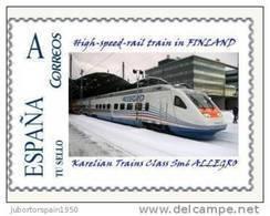 ESPAÑA*SPAIN*HIGH-SPEED-R AIL TRAIN In FINLAND*KARELIAN TRAINS CLASS SM6 ALLEGRO*RAILWAYS*BAHN*TU SELLO - Trains