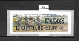 ????  **  Mémoire Transfrontaliére Verdun-Bastogne 2018  Faciale 0.80 €  26/17  55 - 2010-... Vignette Illustrate