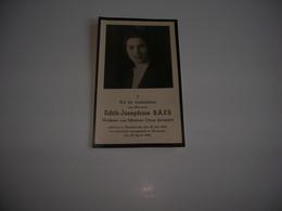 Edith-Josephine Baes (Zandvoorde 1920-Oostende 1944);Janssen - Devotieprenten