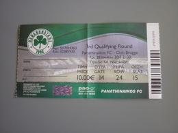 Panathinaikos-Club Brugge UEFA Champions League Football Match Ticket Stub 28/7/2015 (hologram) - Tickets D'entrée