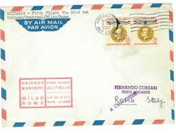STATI UNITI - ALITALIA FIRST FLIGHT VIA DC-8 JET - CHICAGO. MONTREAL,MILAN,ROME - ANNO 1962 - Aerei