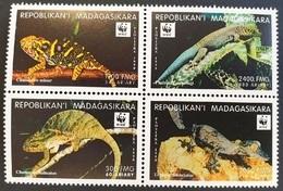 # Madagascar 1999**Mi.2313-16  WWF , Reptiles , MNH [10;73] - Reptilien & Amphibien