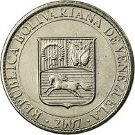 Monnaie, Venezuela, 25 Centimos, 2007, Maracay, SUP, Nickel Plated Steel, KM:91 - Venezuela