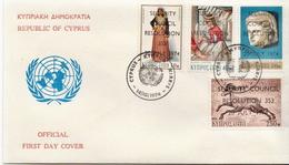 Cyprus Overprinted Set On FDC - Art
