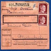 Colis Postal /  Départ Bortenach - Bourdonnay Près Dieuze  / 8-2-43 - Covers & Documents