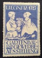 POLONIA  LIEGNITZ  1927  GARTENBAU UND GEWERBW  AUSSTELLUNG  ETICHETTA PUBBLICITARIA ERINNOFILO - Cinderellas