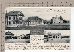 Gruss Aus Herzogenbuchsee (1904) Jura Quartier / Bahnhofplatz / Bahnhof - BE Berne